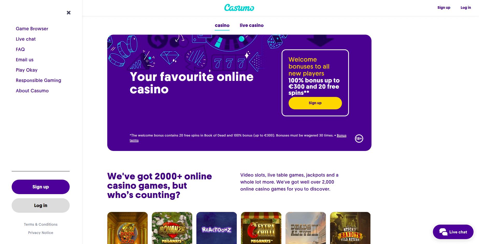 casumo-home-page