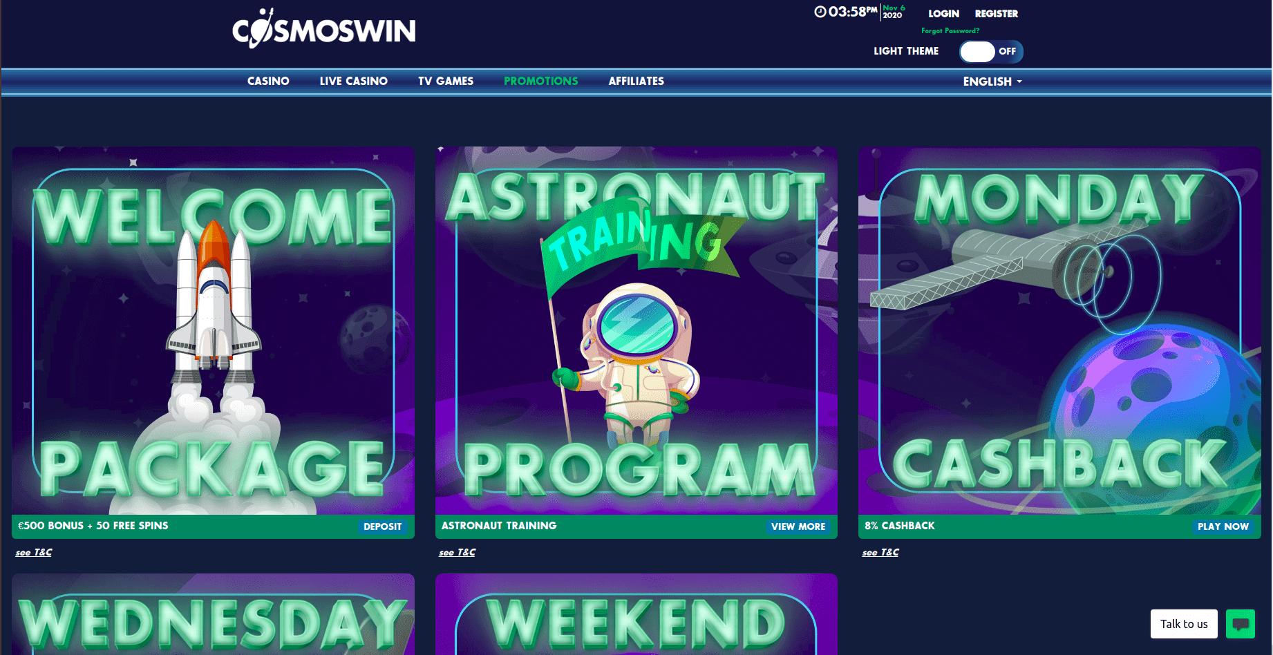 cosmoswin-bonus
