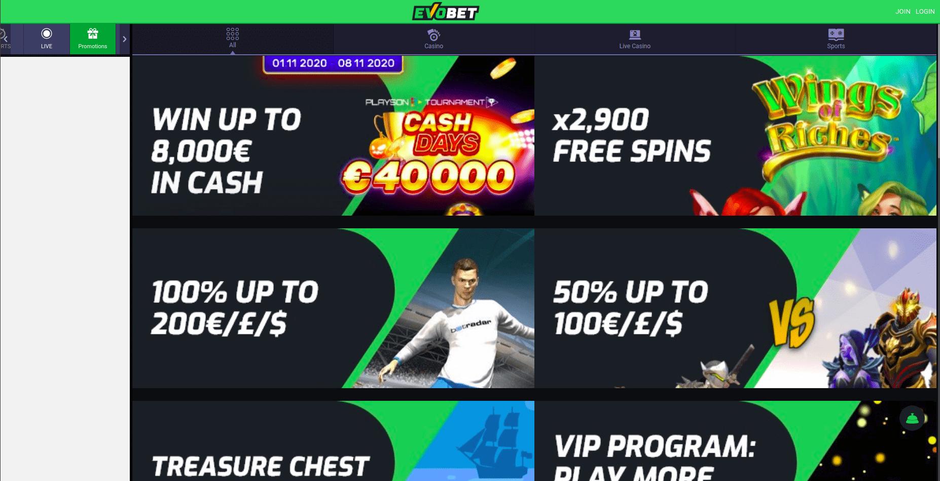 evobet-bonus