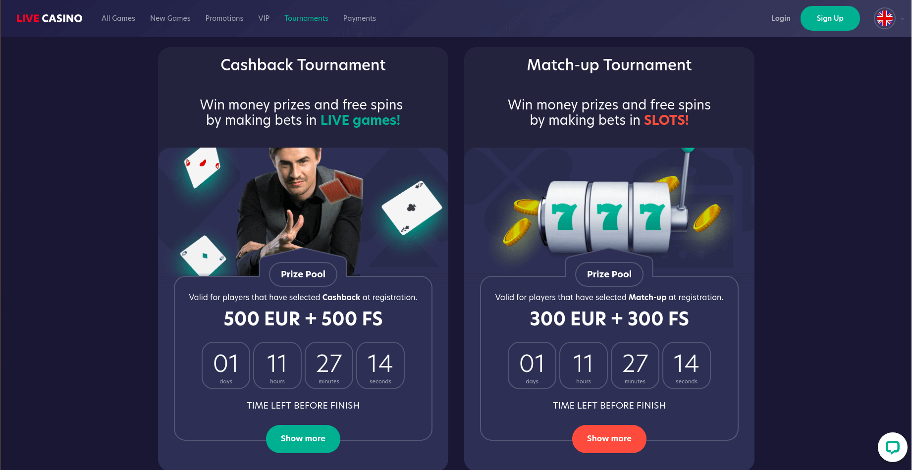 livecasino-tournament