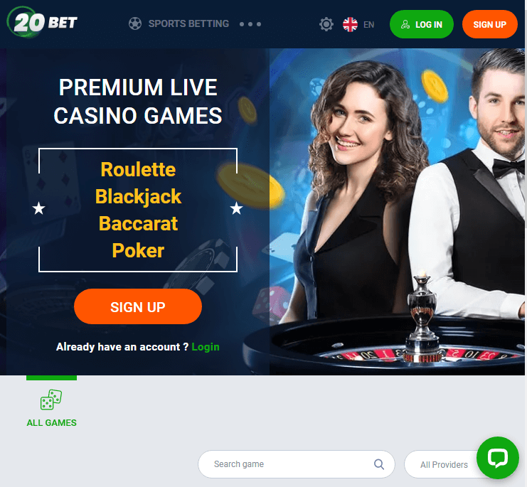 20bet live mobile