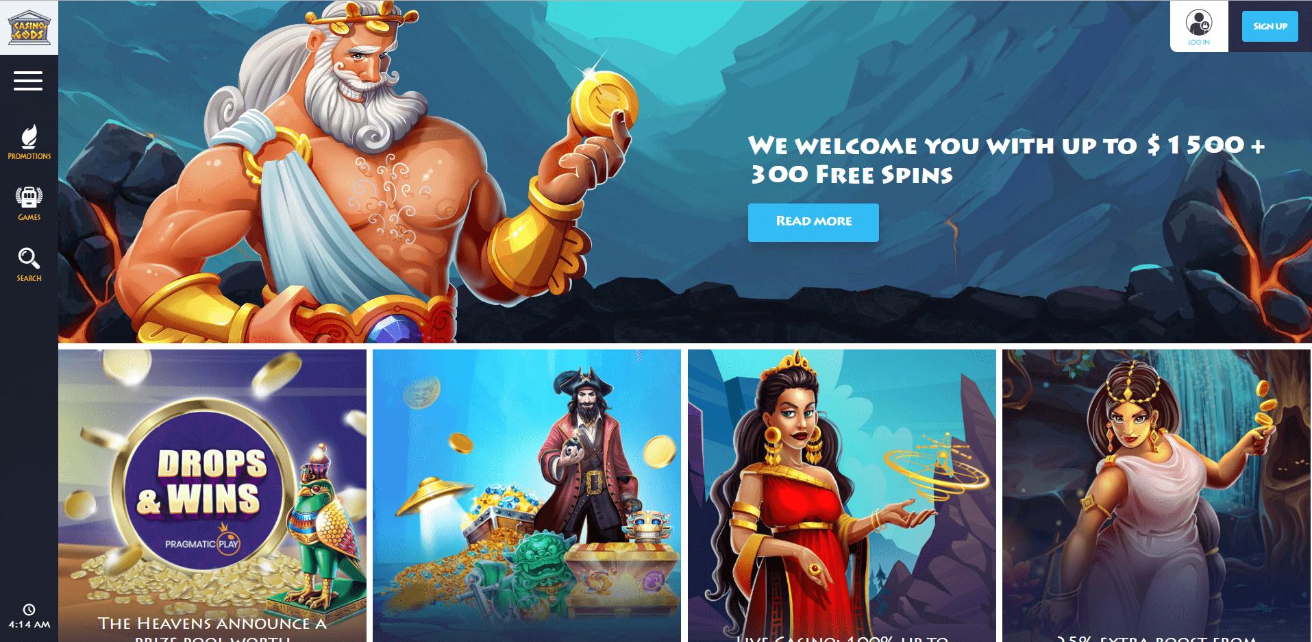 CasinoGods promo desktop