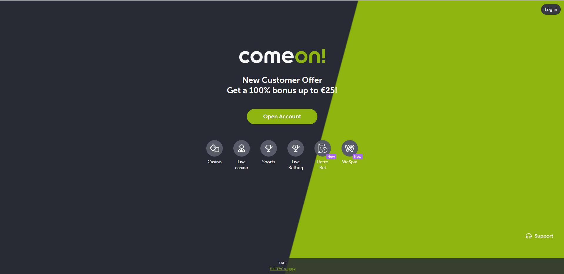 Comeon Home Desktop