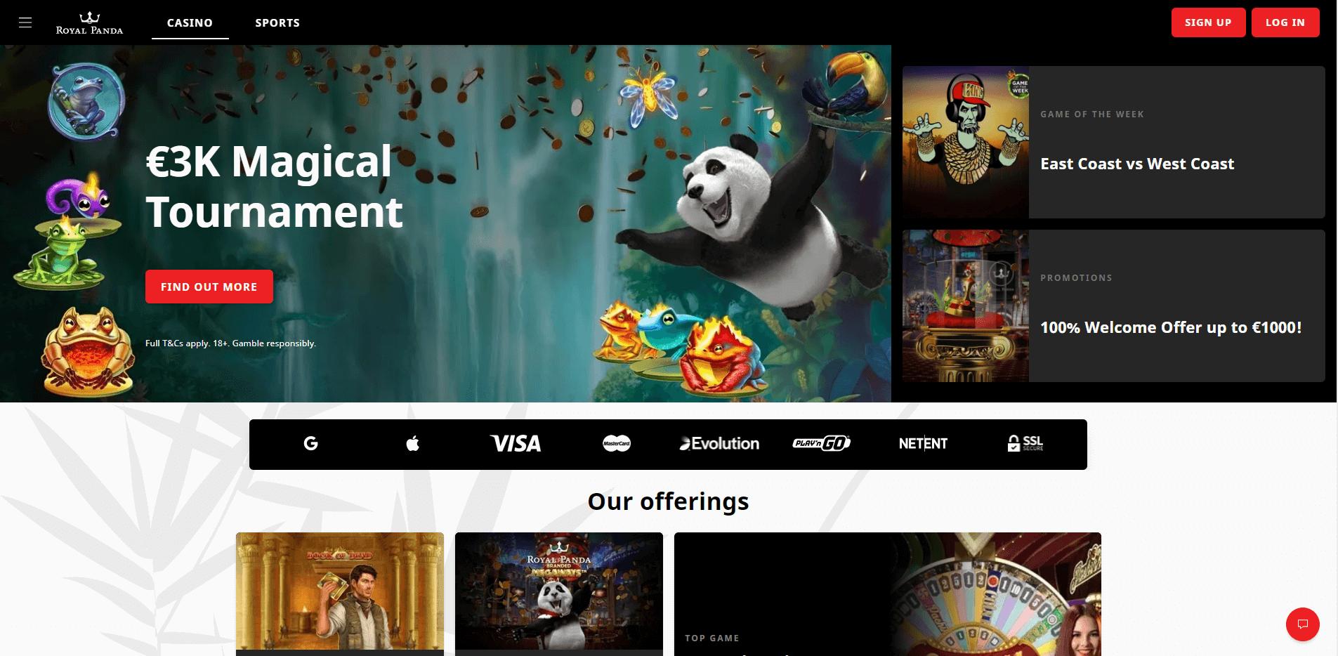 Royal Panda Home Desktop