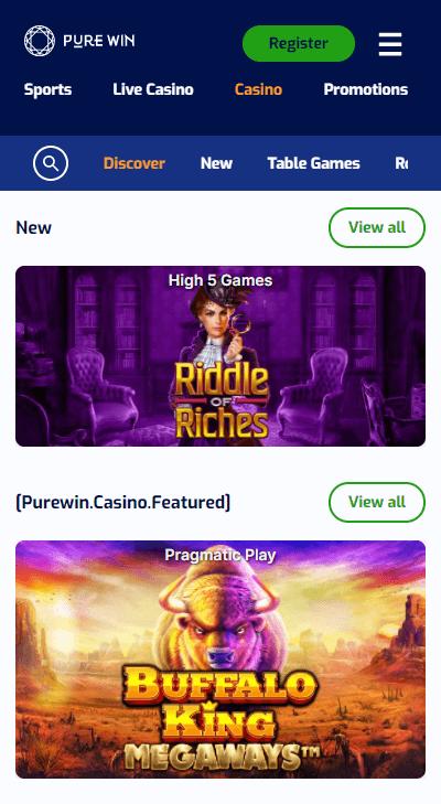 purewin casino mobile